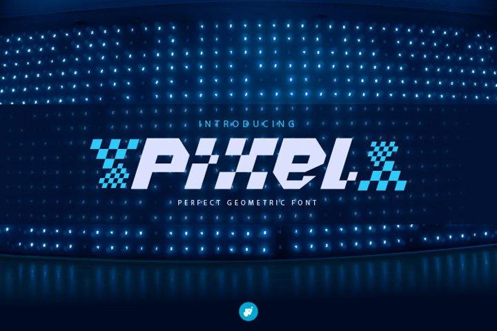 Pixel - perfect geometric modern font