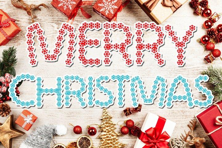 Snowflakes Christmas Font