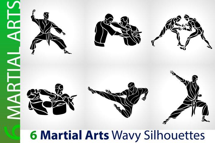 Martial Arts Karate MMA Silhouettes