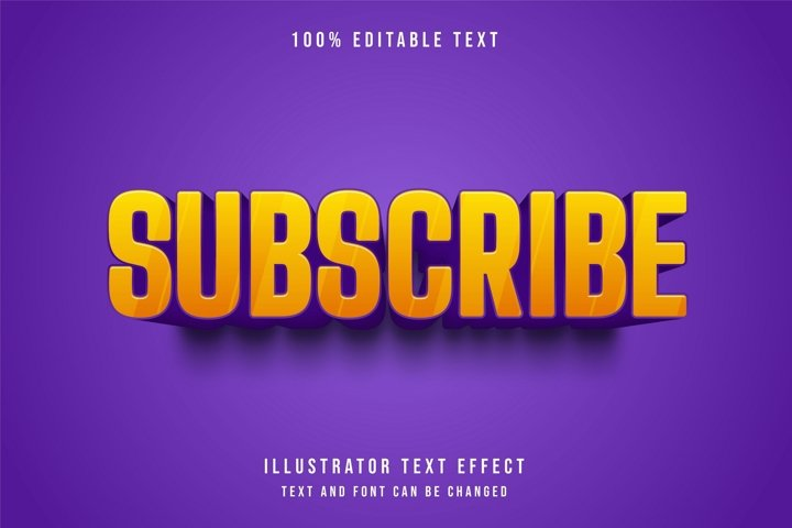 Subscribe - Text Effect