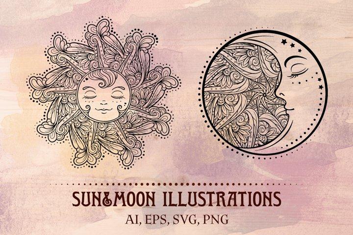 Sun&Moon illustrations