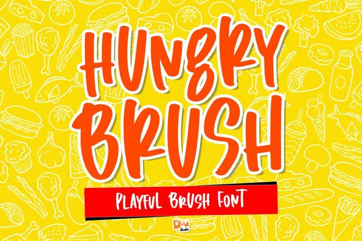Hungry Brush - Playful Brush Font
