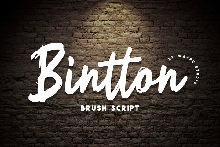 BIntton - Brush Script