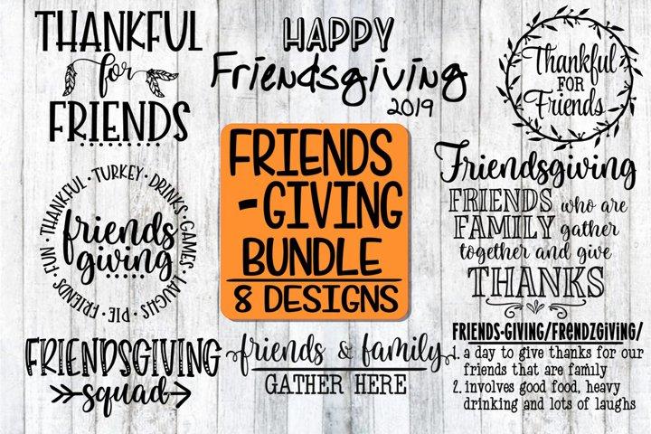 Free Svgs Download Friendsgiving Bundle 8 Designs Svg Png Eps Dxf Free Design Resources