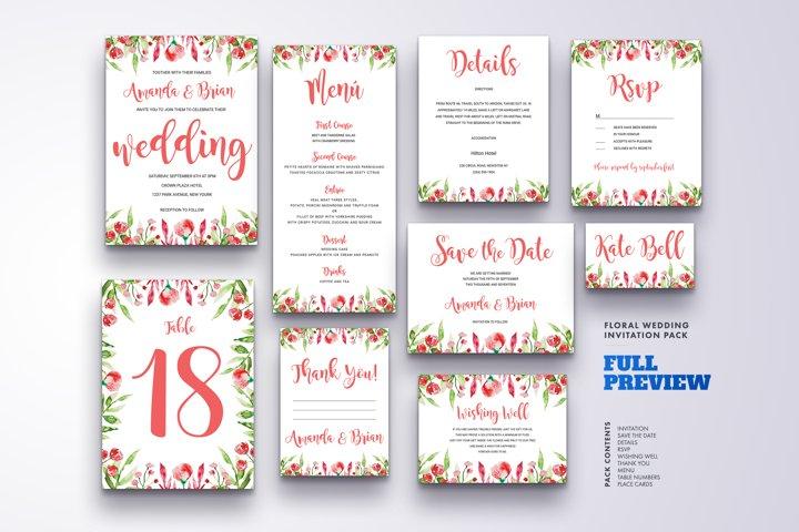 Wedding Invitation Suite Vol.7 / Save Date / Bride