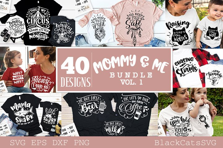Mommy and me SVG bundle 40 designs vol 1