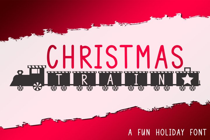 Christmas Train - A Fun Holiday Font