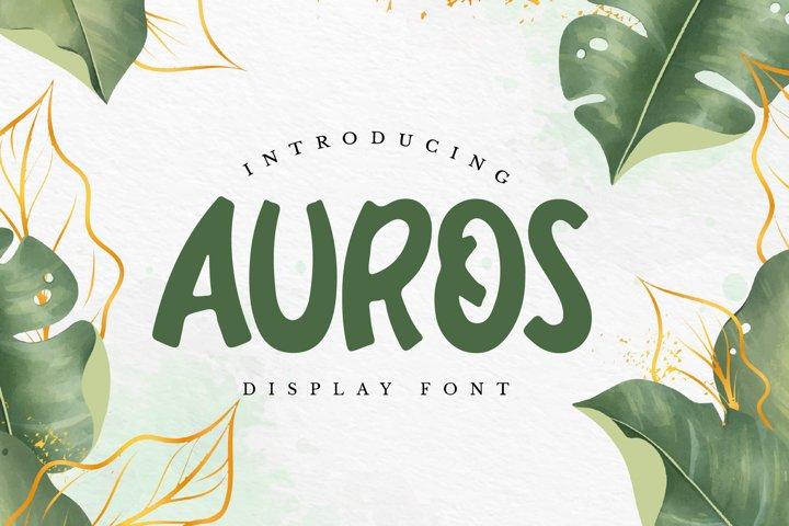 Auros - Display Font