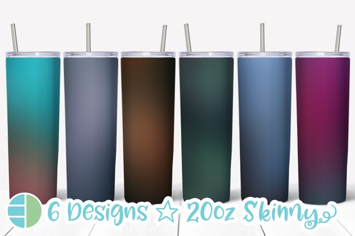Skinny Tumbler Sublimation Designs Moody Gradient Background
