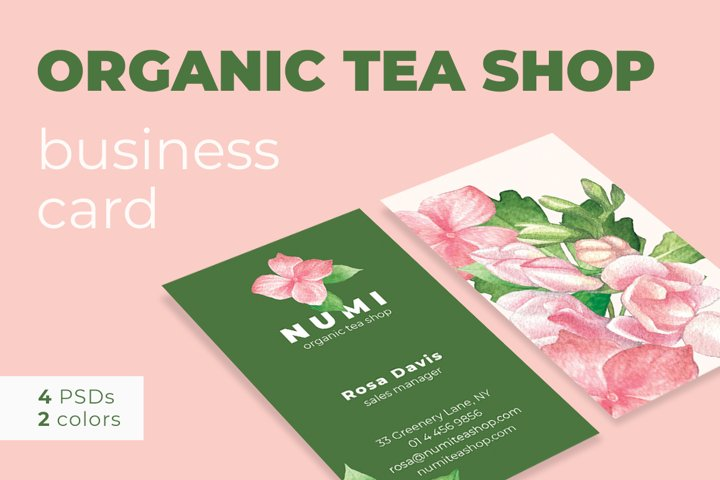 Organic Tea Shop Business Card