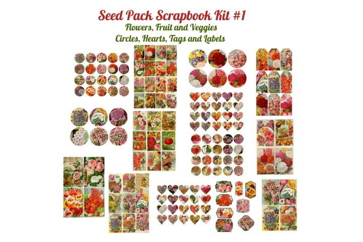 Seed Pack Ephemera Scrapbook Kit # 1