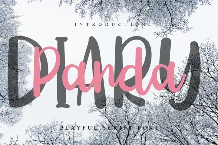 Diary Panda - Handwritten Font