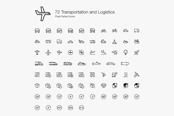 Transport Transportation Vehicles Logistics Perfect Icons