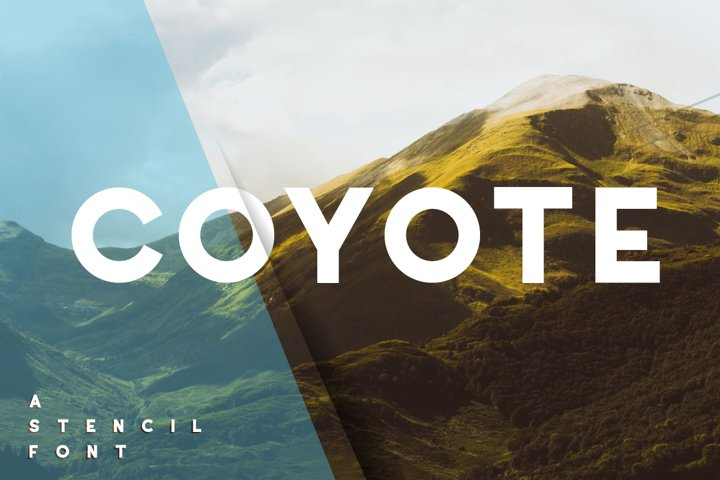 Coyote - a crazy & retro font family with optional stencils