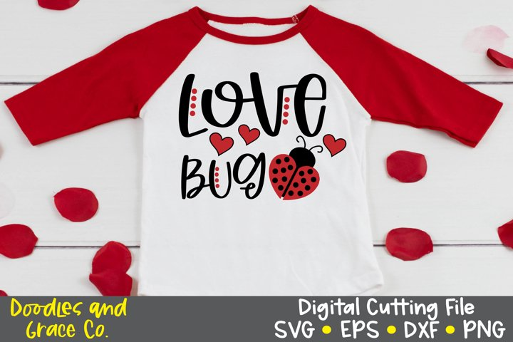 Love Bug SVG - Valentines Day SVG - DXF - PNG - EPS