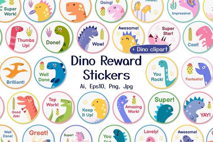 Dino Reward Stickers Set