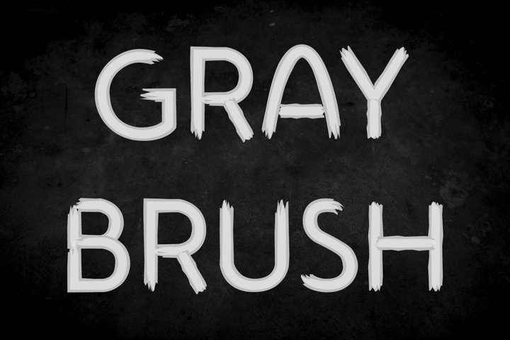 Gray Brush Font