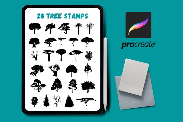 Procreate Tree Stamps   Procreate Brush