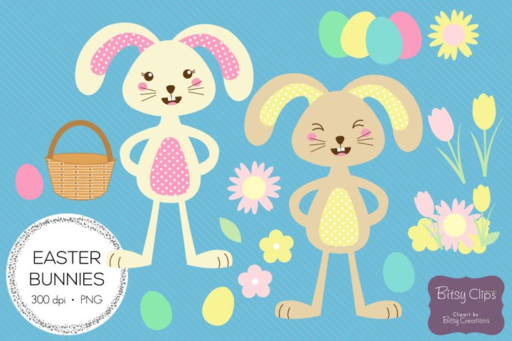 Easter Bunny Illustrations Commercial Use Clipart