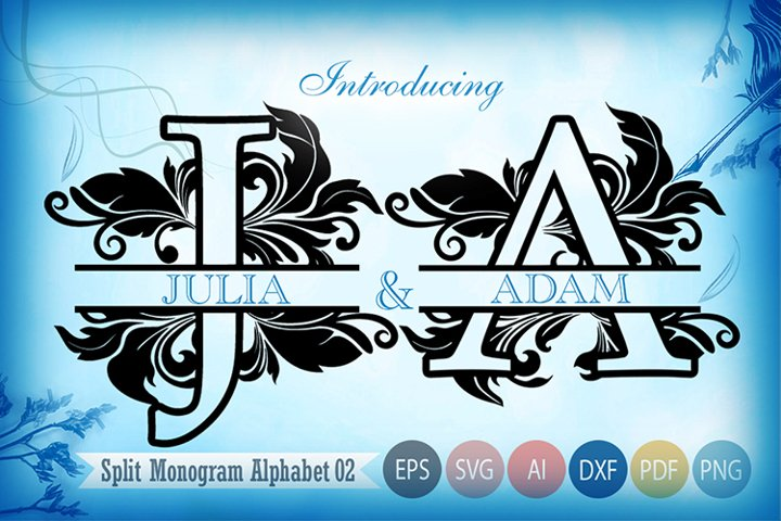 Split Monogram Svg Alphabet 02
