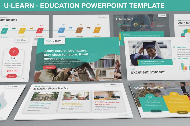 U-Learn - Education Powerpoint Template