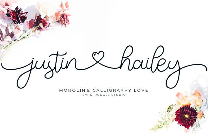 Justin Hailey - Monoline Calligraphy Love