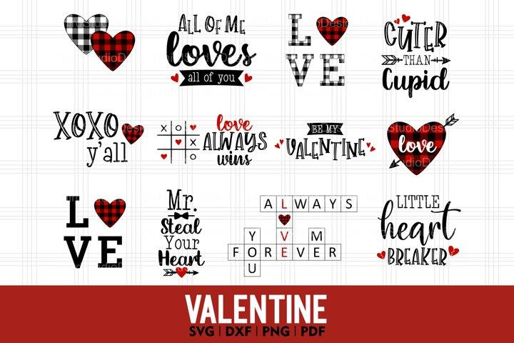 Valentine Day svg Bundle   Buffalo Plaid Valentine svg