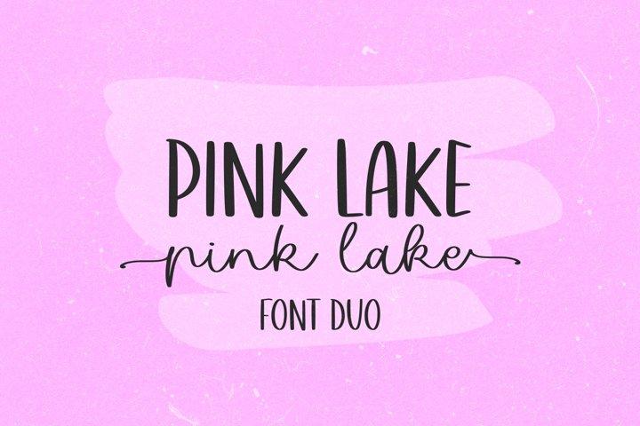 Pink Lake Font Duo