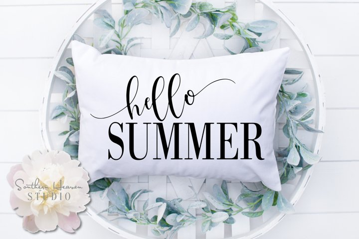 HELLO SUMMER - SVG, PNG, DXF and EPS