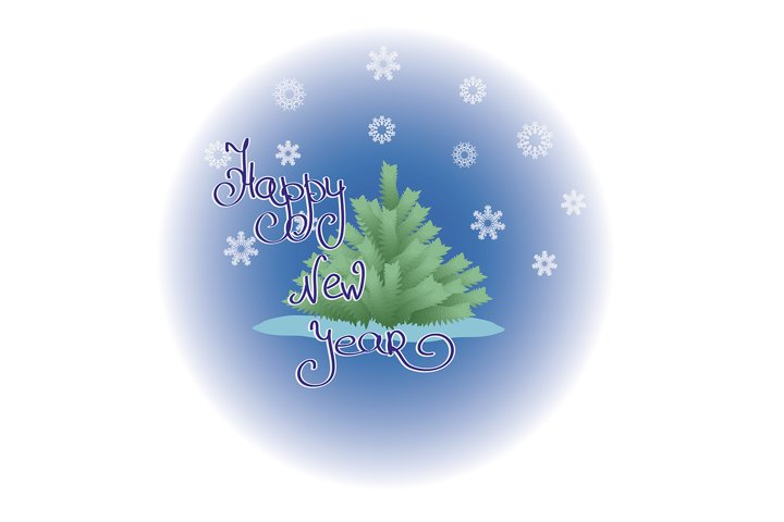 New year greeting picture