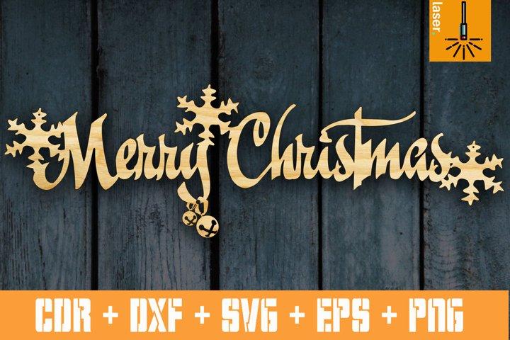 Christmas decor | Merry Christmas sign | CNC Vector cut