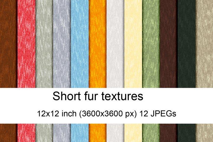 Short fur textures