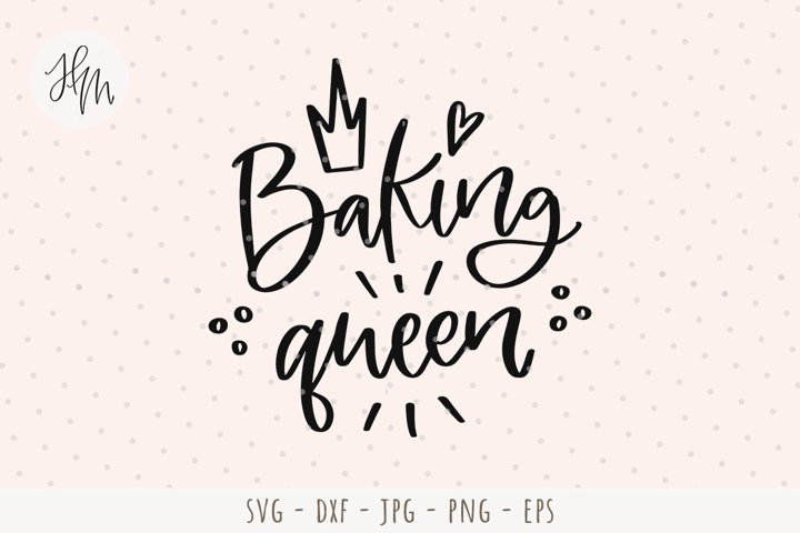 Baking queen cut file SVG DXF EPS PNG JPG