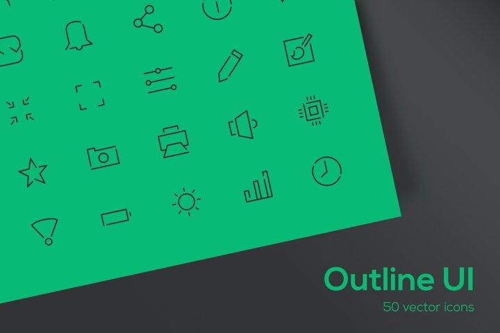 Outline UI - Icons Set