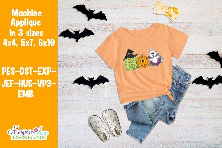 BOO 2 Halloween Applique/Embroidery Design