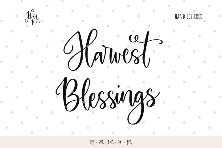 Harvest blessings cut file SVG DXF EPS PNG JP