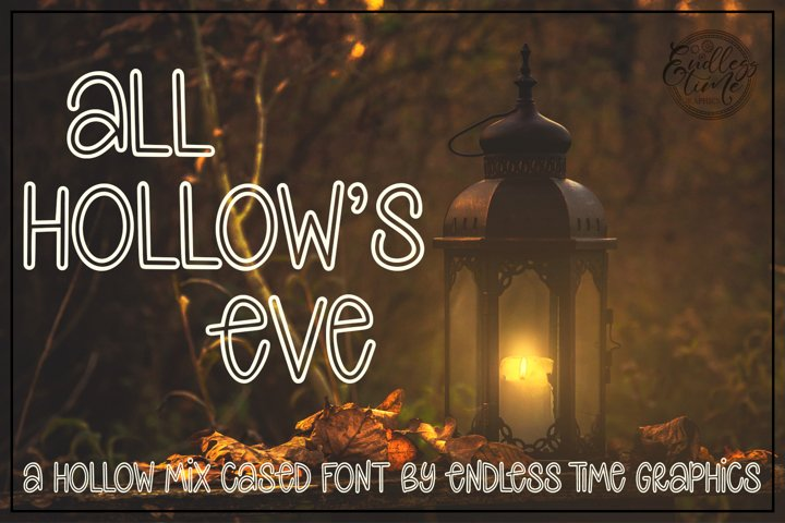 All Hollows Eve - A Spooky Hollow Mix-Cased Font - Free Font Of The Week