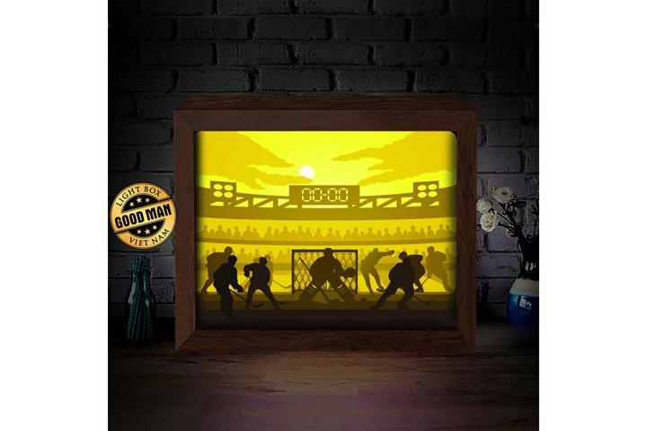 HOCKEY 1 3D Paper Cutting Light Box - Shadow Box