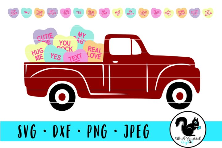 Hearts with Sayings Truck and Individual Conversation Hearts