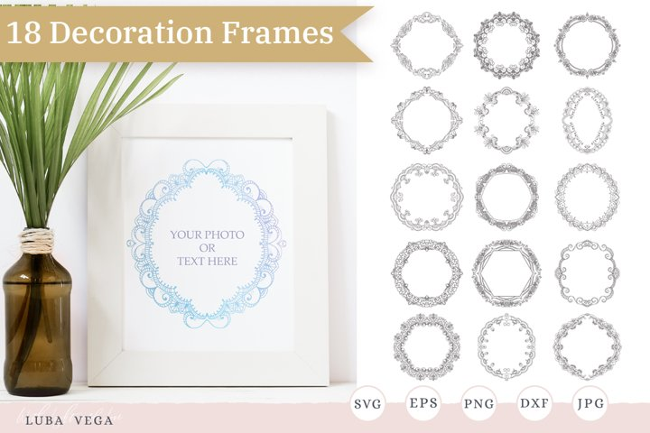 Hand drawn wreath / Wreaths and Frames