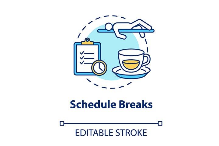 Schedule breaks concept icon