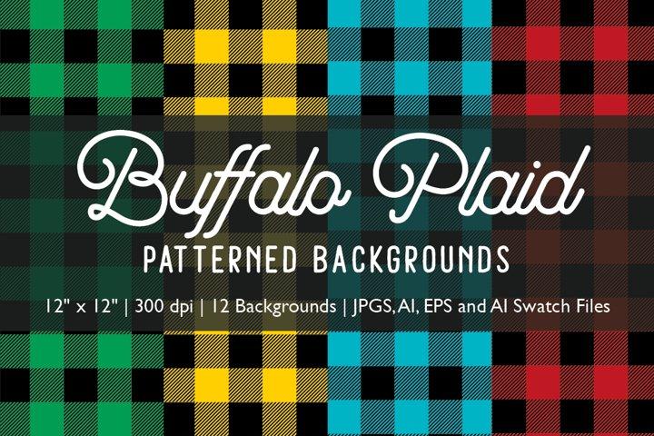 Buffalo Plaid Patterned Backgrounds