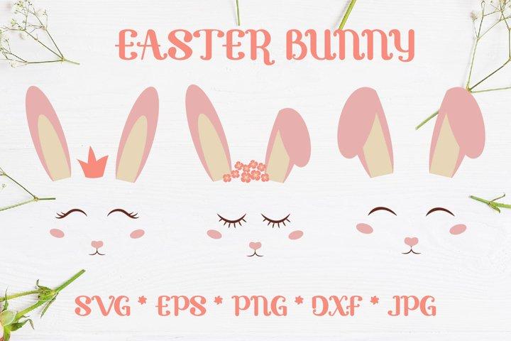 Easter Bunny Ears Cute kit SVG