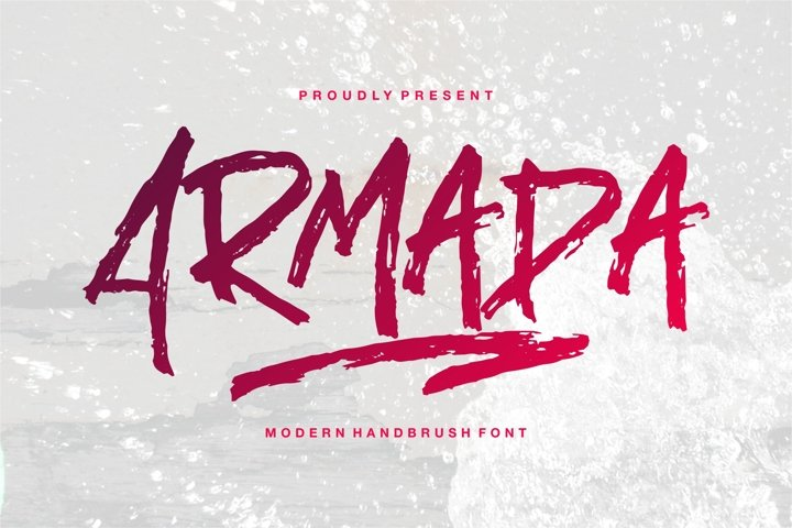 Armada - A Modern Hand Brush Font