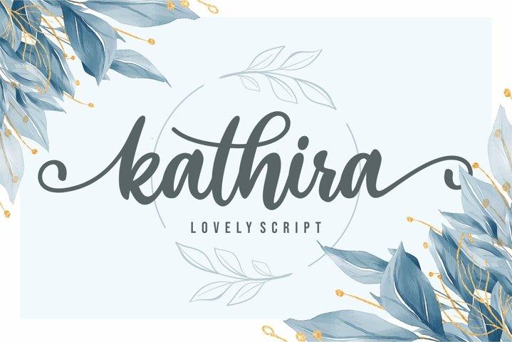 Kathira - Lovely Script