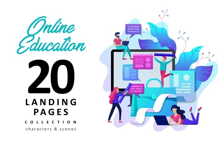 Education. Landing page template