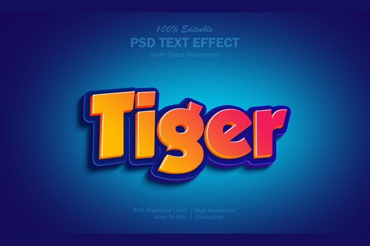 3D Tiger Text Effect