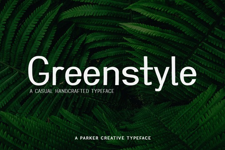 Greenstyle Casual Handcrafted Webfont
