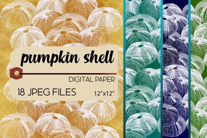 Pumpkin Shell Digital Paper/Background