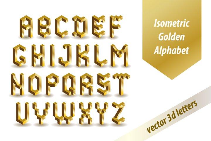 3d Golden Font